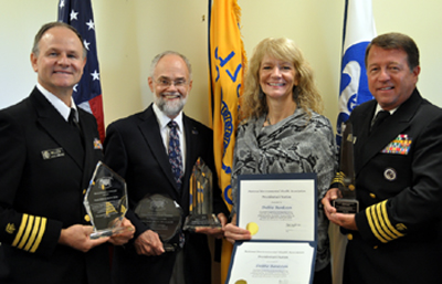 Photo of 2013 NEHA EH Award Winners pictured left to right: Miller, Radke, Bankston, and Herring. Not pictured: Martin Kalis