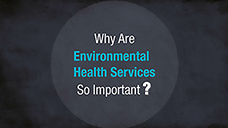 Graphic with a circle that reads Why Are Environmental Health Services So Important?