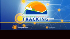 Slide of graphic with title CDC's Environmental Public Health Tracking Program video