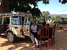 Amy Kasper (EIS '14) interviews cases in Mozambique