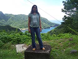 Ekta Choudhary, PhD (EIS '09) in American Samoa following the 2010 CASPER