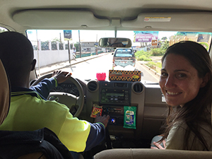 Emilly Ussery, PhD, MPH (EIS '15) supporting the Ebola response in Sierra Leone