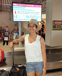 Nanda Issa (EIS '16) arrives in the U.S. Virgin Islands to perform a Community Assessment for Public Health Emergency Response (CASPER)