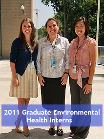 2011 Graduate Environmental Health Interns