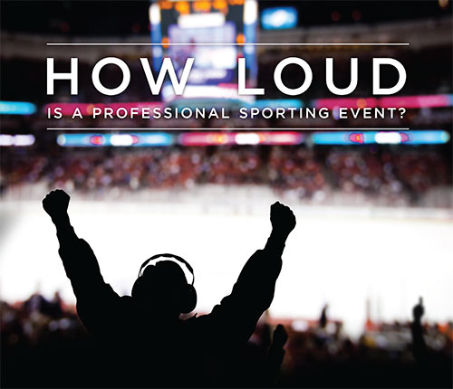 how loud is a professional sporting event