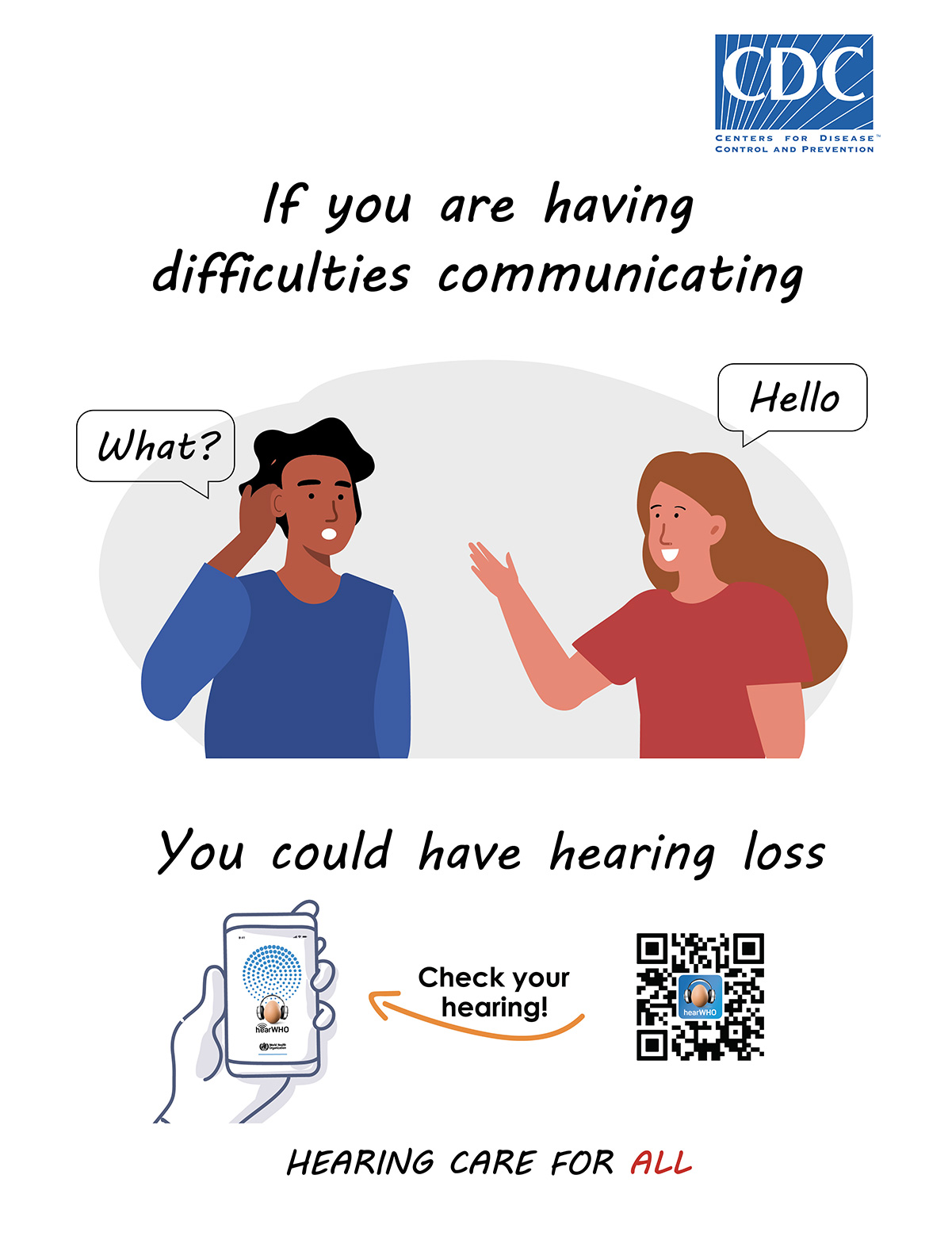 If you are having difficulties communicating, you could have hearing loss. Check your hearing!