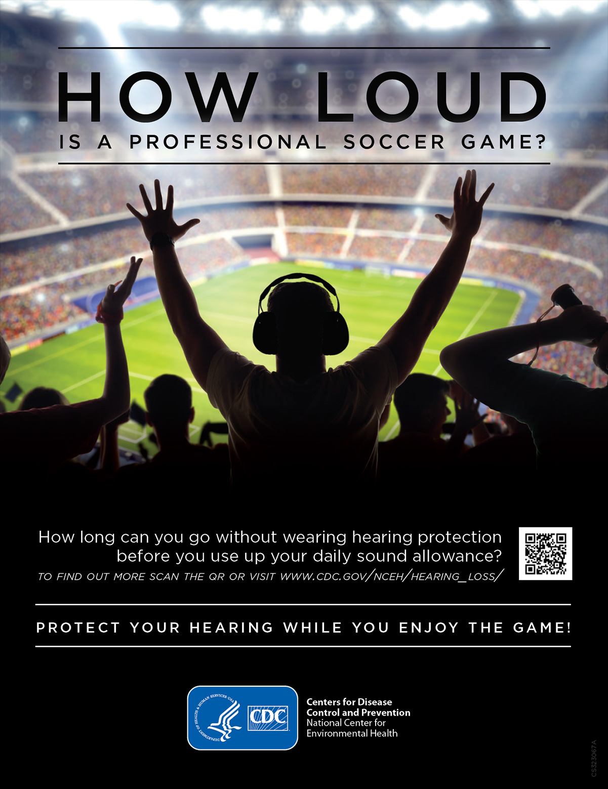 How Loud is a Professional Soccer Game? Visit www.cdc.gov/nceh/hearing_loss/ to learn more.