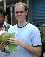 Dr Carl Skinner on a field deployment to Bangladesh while investigating a suspected outbreak of poisoning from a cholinesterase inhibitor in children.