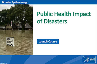 picture of first page of MODULE 1: Public Health Impact of Disasters