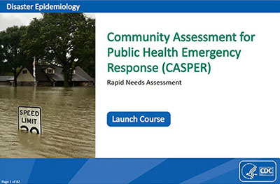 picture of first page of MODULE 3: Community Assessment for Public Health Emergency Response (CASPER)