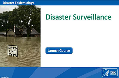 picture of first page of MODULE 4: Disaster Surveillance