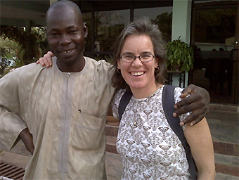 Rebecca S. Noe (right) with Dr. Suleiman Haladu, 2009