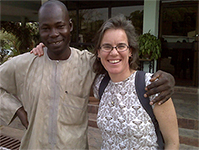 Rebecca S. Noe (right) is with Dr. Suleiman Haladu
