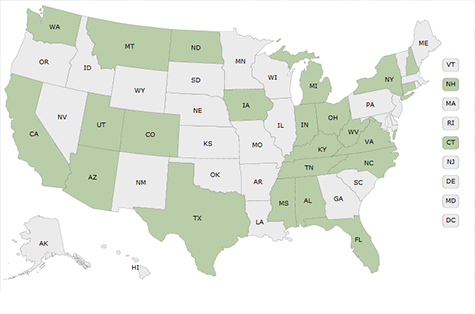 CASPER interactive map - USA map showing CASPER locations
