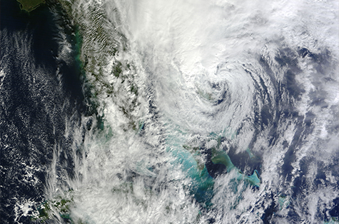 hurricane as seen from outer space