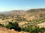 Arid, mountainous terrain of Tigray
