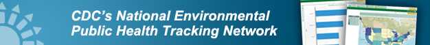 CDCs National Environmental Public Health Tracking Network web banner