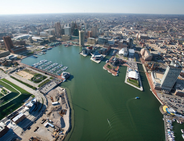 view of Baltimore's inner harbor