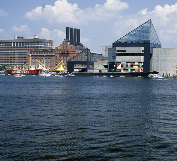 The waterfront in Baltimore