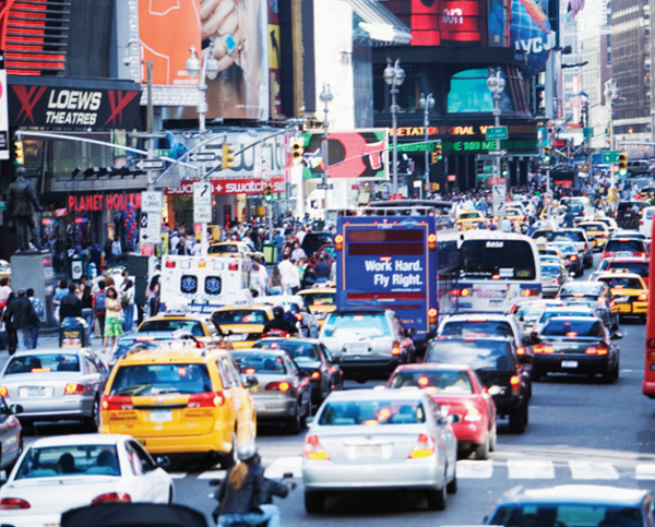 Street traffic in New York City