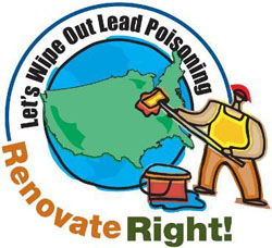 2008 Lead Week logo - 'Let's Wipe Out Lead Poisoning - Renovate Right!'