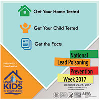 National Lead Poisoning Prevention Week (NLPPW) 2017