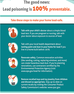 thumbnail image of  lead poisoning prevention infographic