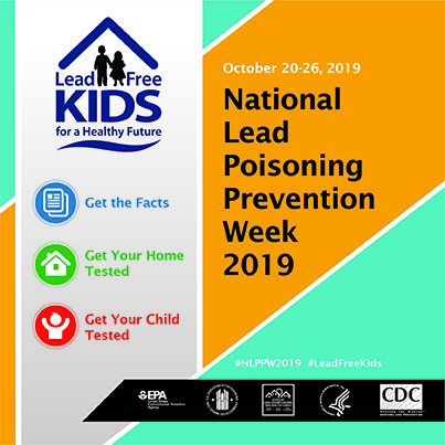 2019 National Lead Poisoning Prevention Week Banner