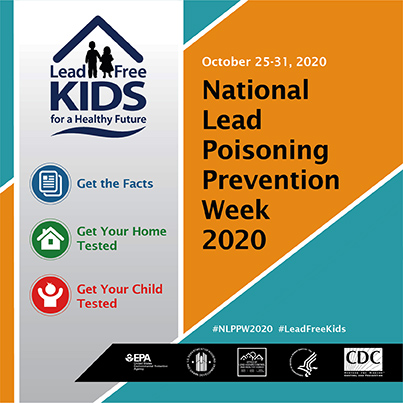 2020 National Lead Poisoning Prevention Week Banner