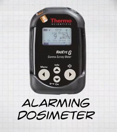 Picture of an alarming dosimeter