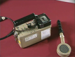 Image of geiger counter with pancake probe