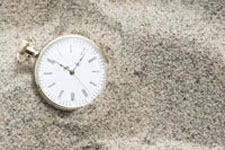 stopwatch in the sand