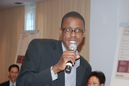 Daniel Wako (Emergency Response Coordinator, CDC Kenya) at training in Tunisia