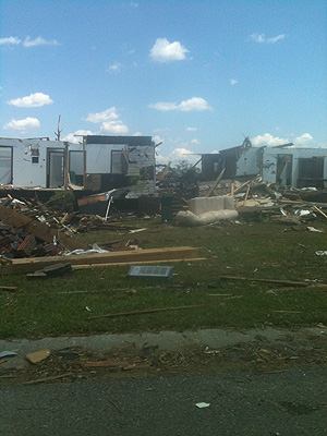 Tornado destruction, Pleasant Grove, AL, April 27, 2011