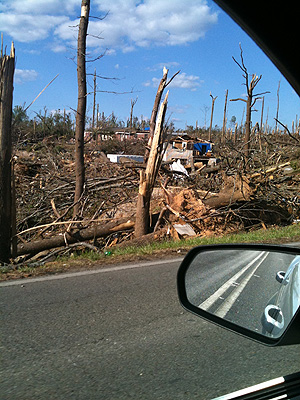 Tornado destruction, Pleasant Grove, AL. April 27, 2011