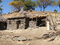 A home in rural area of Tigray, Ethiopia.