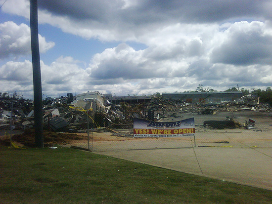 An Aarons Rental Store on McFarland Blvd in Tuscaloosa - 'Ground Zero'