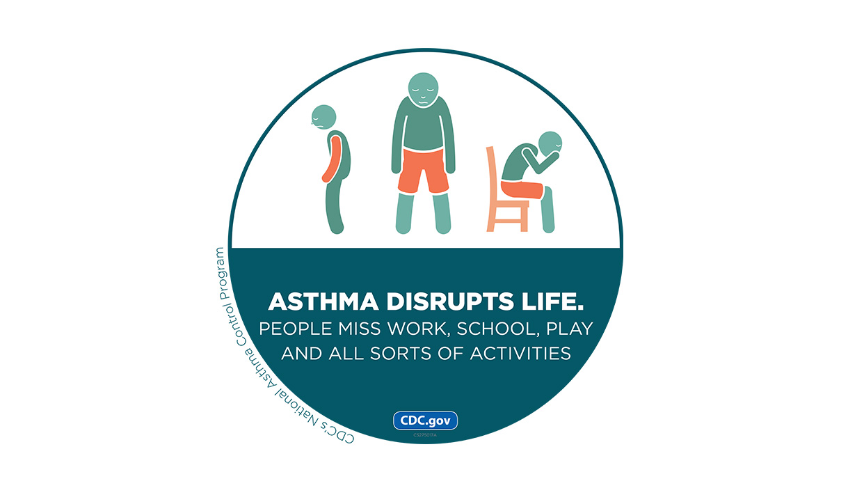 Asthma Disrupts Life. People miss work, school, play and all sorts of activities.