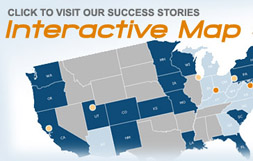 Click to visit our success stories interactive map