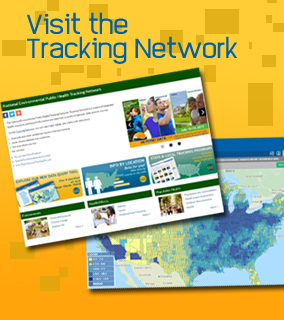 Screen Captures of Tracking Network Website and Map. Text: