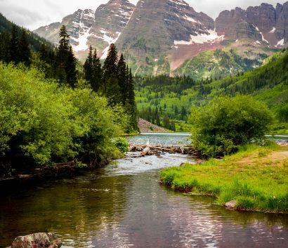 Mountains and river in Colorado
