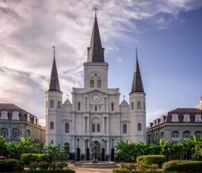 St. Louis Cathedral in Jackson Park in New Orleans, Louisian…