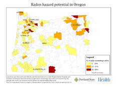 Oregon Radon Map