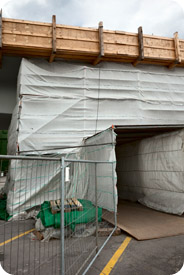 Entrance to construction site