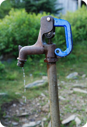 Well water faucet dripping