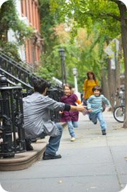 Family on streets of New York