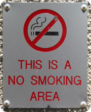 No-Smoking sign on building