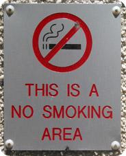 No-Smoking sign on building