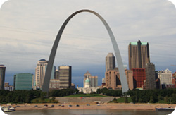 Cityscape of St. Louis