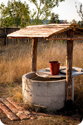 Water well with bucket